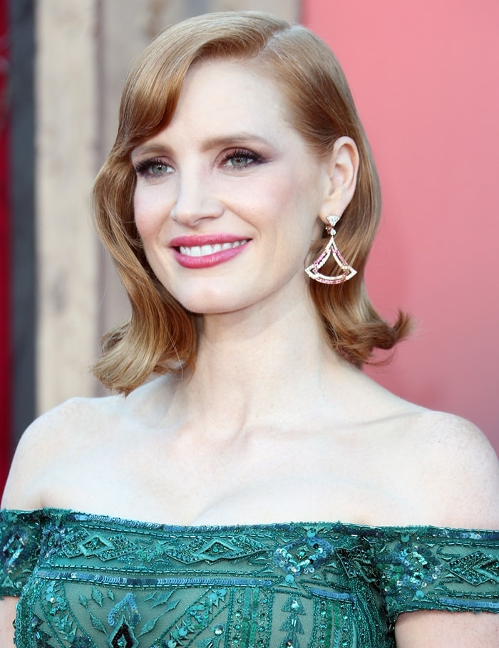 Jessica Chastain's fiery red hair is her most identifiable feature