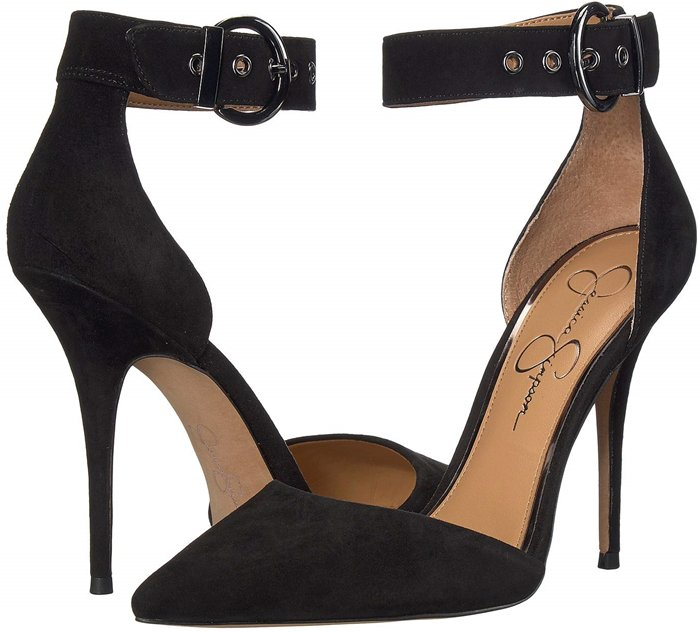 The Waldin pump's sexy buckle cuff is mixed with an elegant pointy toe