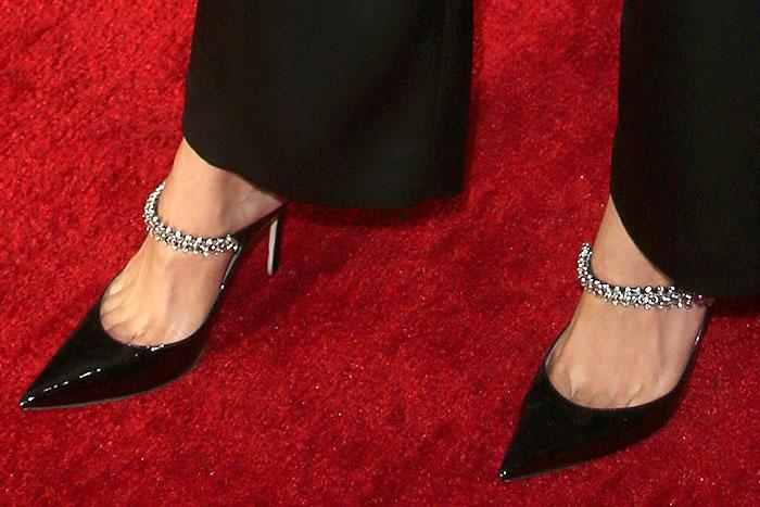 Katharine McPhee's sexy feet in Jimmy Choo Bing mules