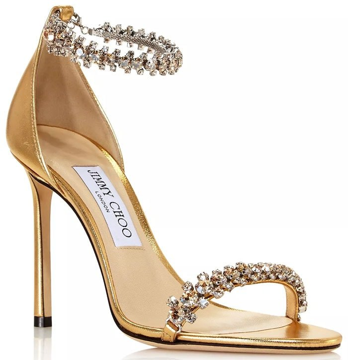 Jimmy Choo Shiloh sandals in gold
