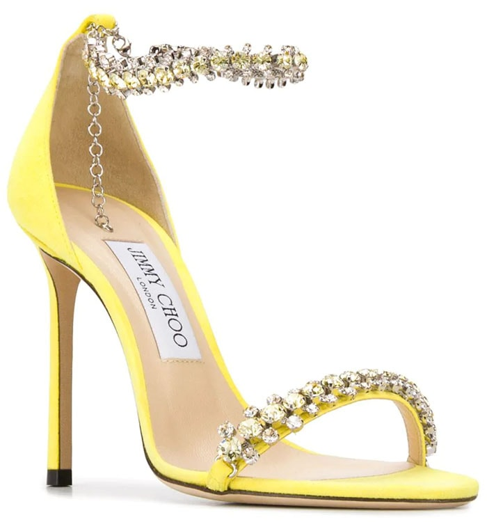 Jimmy Choo Shiloh sandals in yellow suede