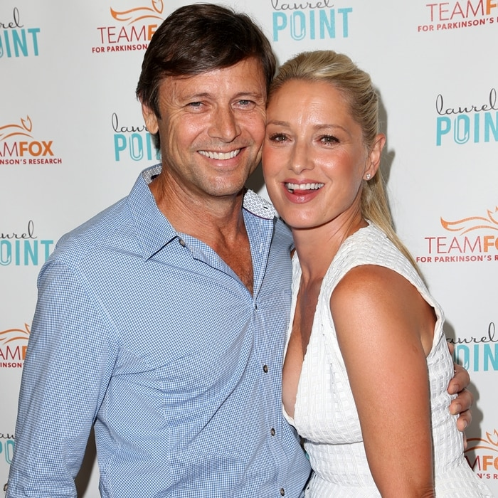 Katherine LaNasa and her husband Grant Show at the Raising The Bar To End Parkinson's event