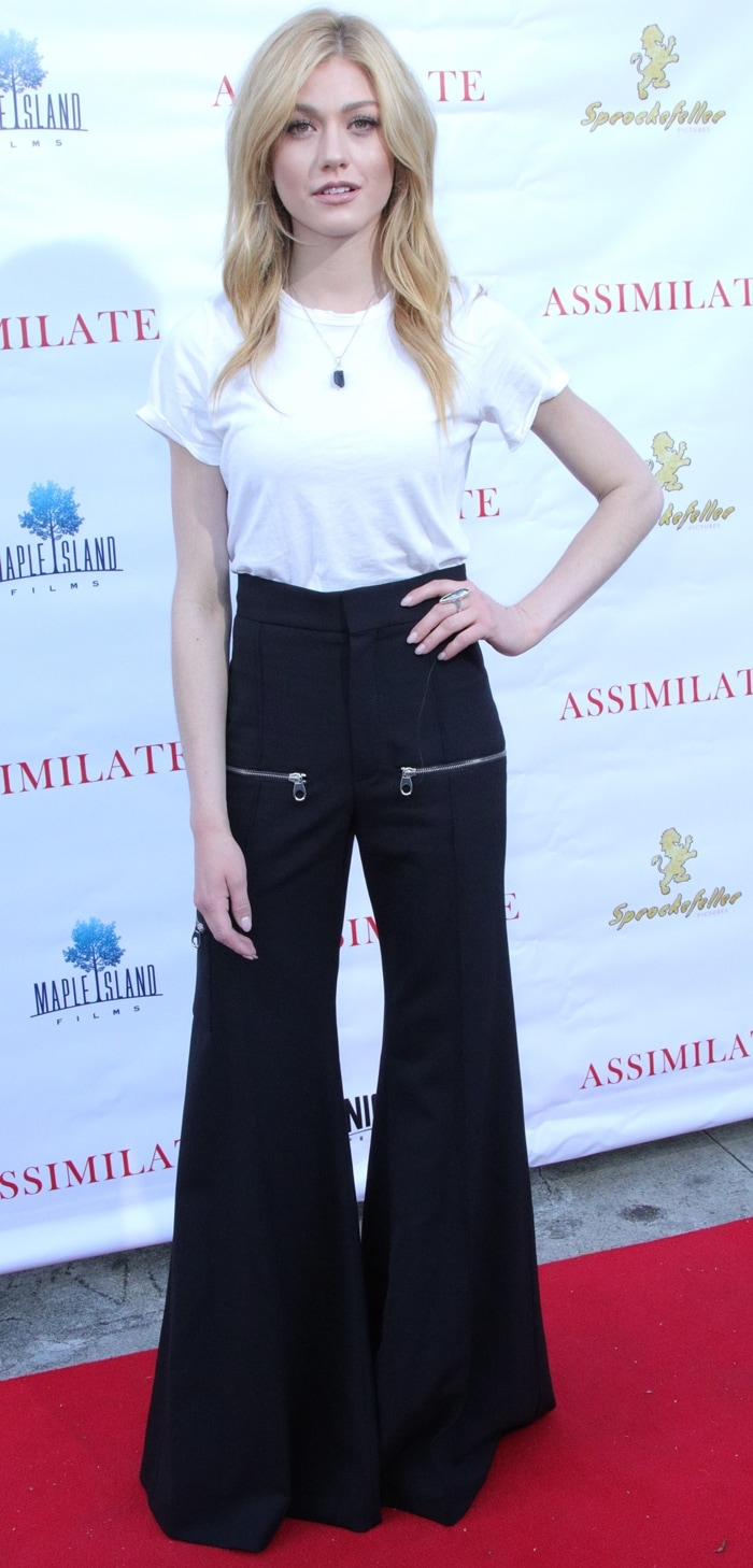 "Actress Katherine McNamara attends the premiere of Gravitas Ventures' ""Assimilate"""