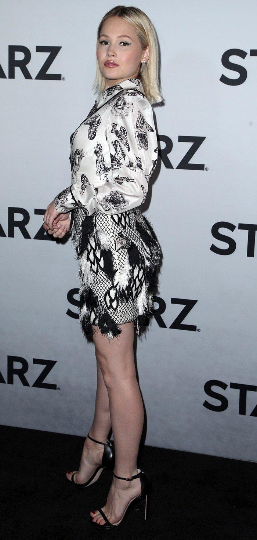 Kelli Berglund donned a sexy Flor et.al Spring 2019 dress