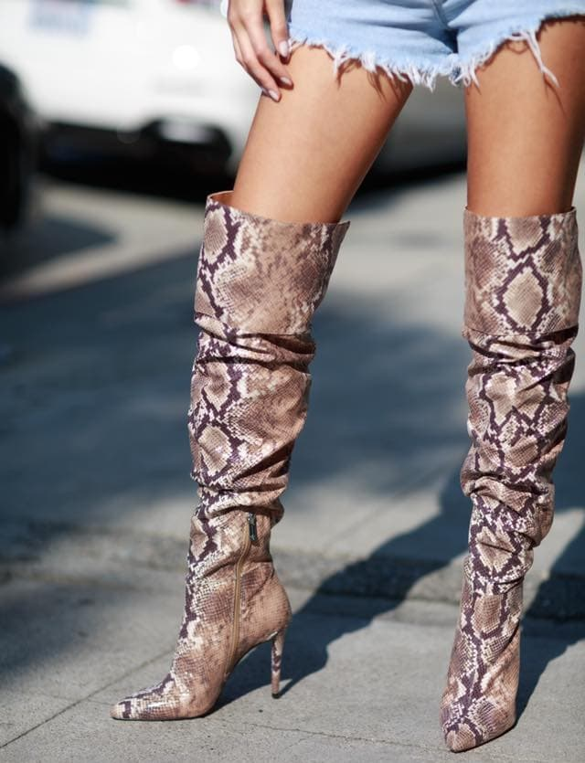 Snake Ladee Over the Knee Boots