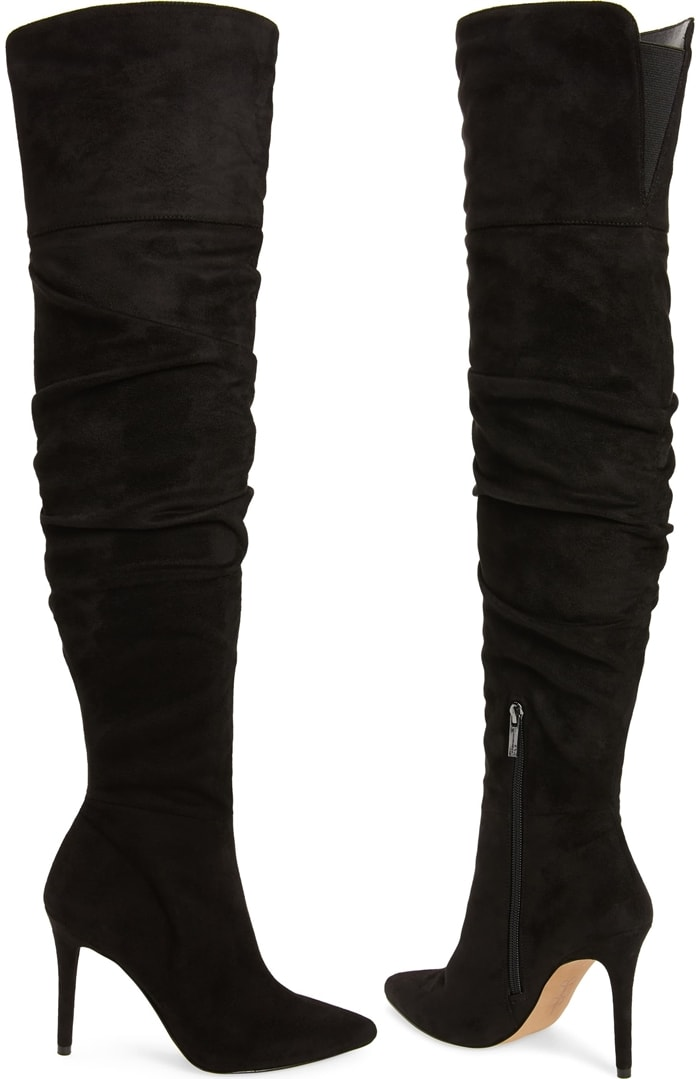 Black Ladee Over the Knee Boots