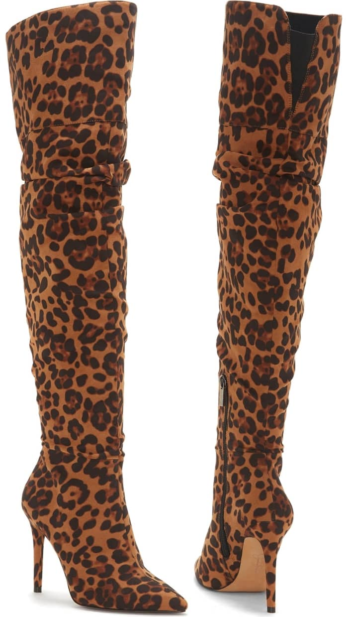 Leopard Ladee Over the Knee Boots