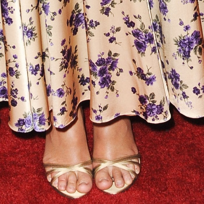Leighton Meester's sexy feet in Jimmy Choo sandals