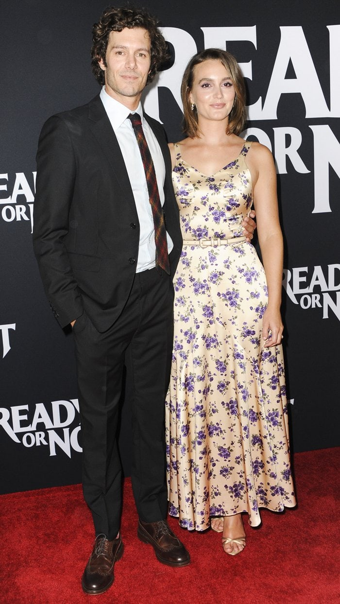 Leighton Meester and Adam Brody coupled up for the premiere of Ready or Not