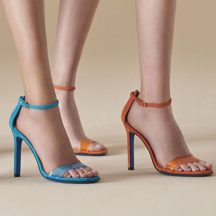Loriblu PVC-and-Suede Ankle-Strap Sandals