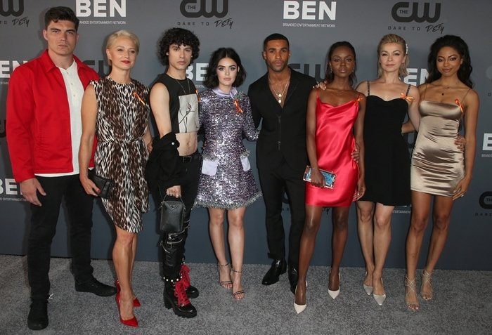 Zane Holtz, Katherine LaNasa, Jonny Beauchamp, Lucy Hale, Lucien Laviscount, Ashleigh Murray, Julia Chan, and Camille Hyde