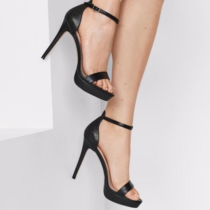 Aldo Shoes Black Madalene Platform Sandals Aldo