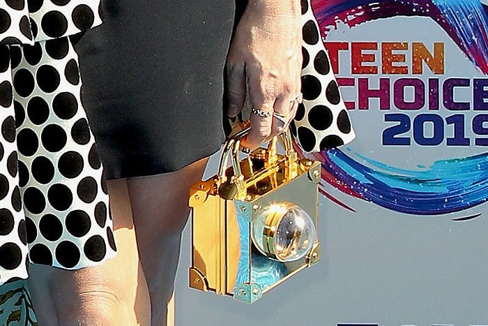 Brittany Snow's Marzook gold mini trunk