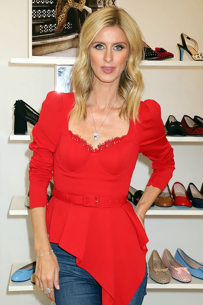 Nicky Hilton and her Nicky Hilton x French Sole shoes