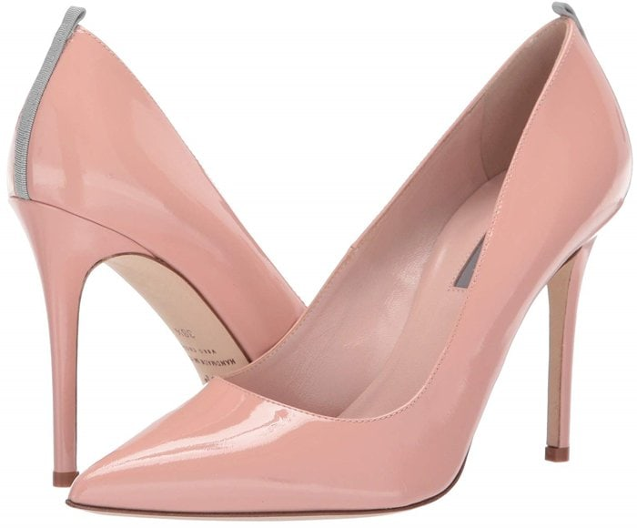 Nude Bare Patent Fawn Pumps
