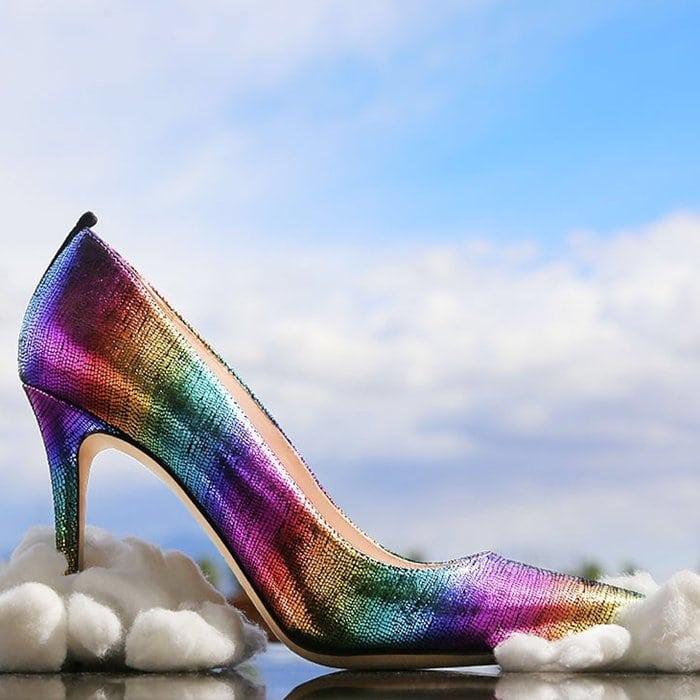 Fawn Rainbow Metallic High-Heel Pumps