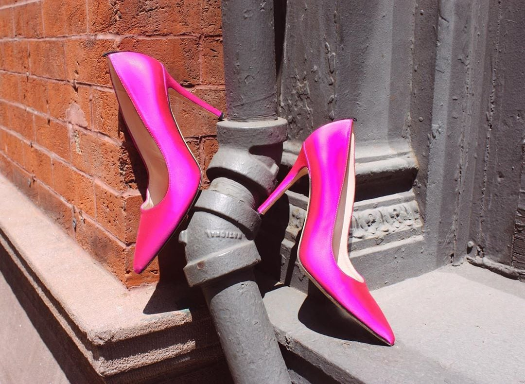 Candy Pink Satin Fawn Pumps