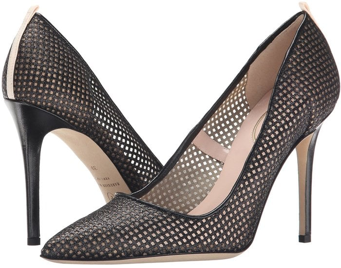 SJP by Sarah Jessica Parker fishnet Fawn is an edgy take on a classic pump