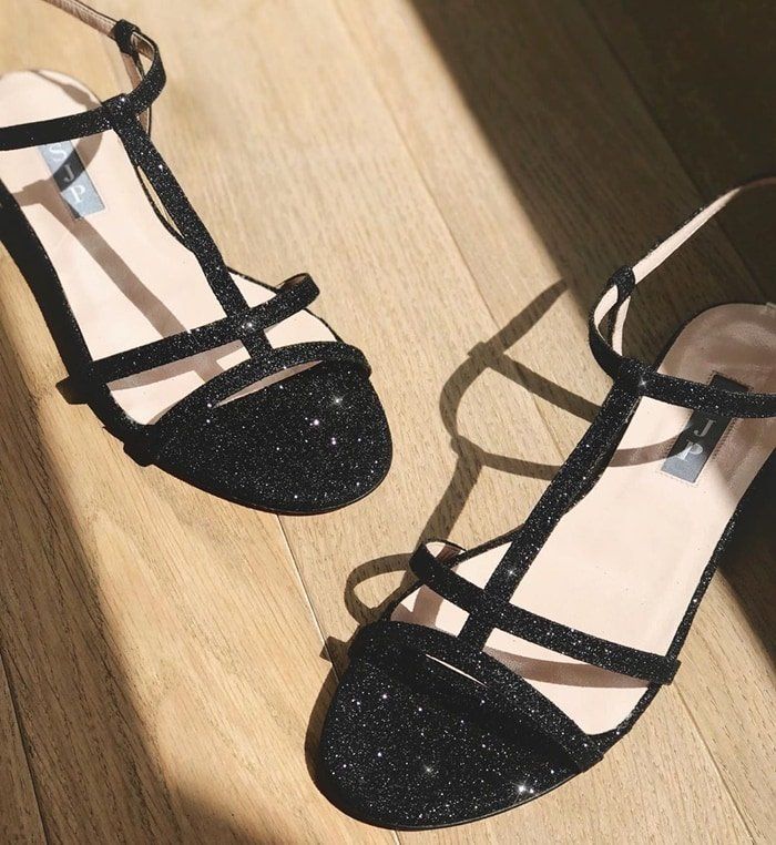 Get noticed in all the right ways wearing crystal SJP by Sarah Jessica Parker Honoree sandals