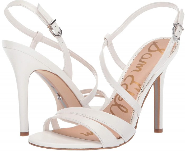 Step out in style wearing these elegant Alisandra strappy stiletto sandals