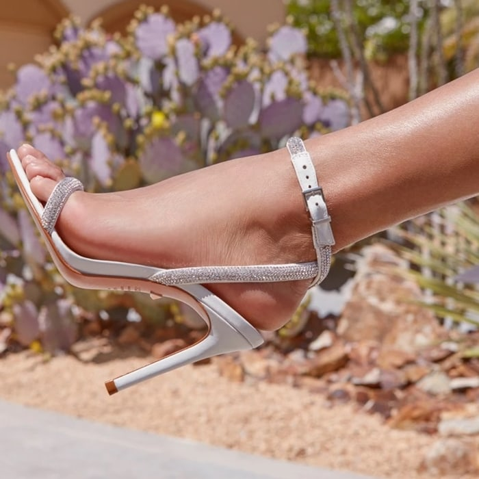 Super-sexy, super-strappy, this high-heeled style complements just about any look, from polished and put-together to party-ready