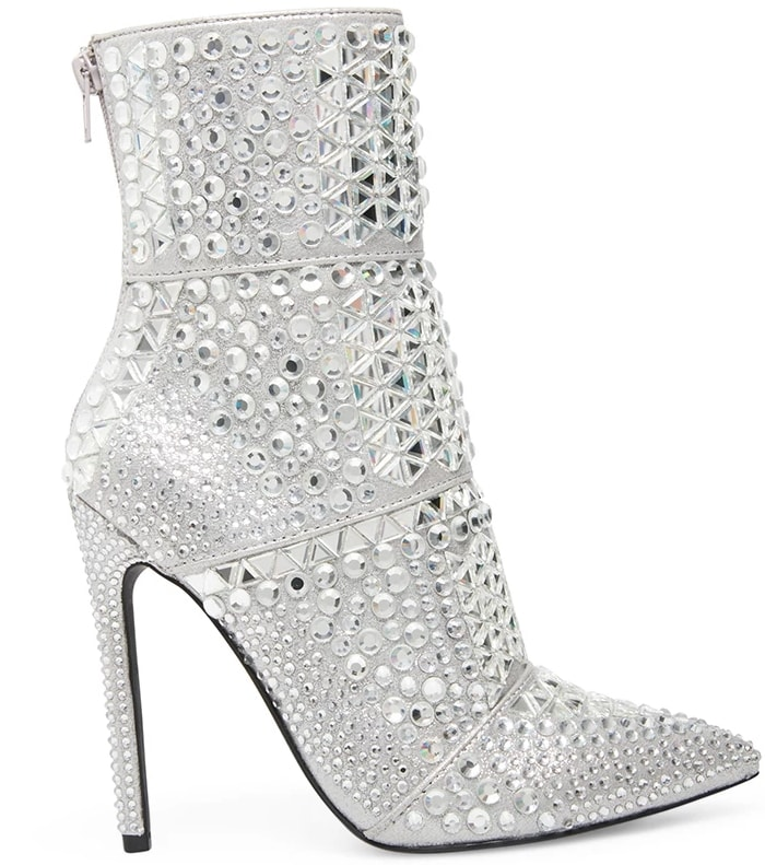 This standout Whole boot features a towering stiletto heel and allover embellishment for maximum impact
