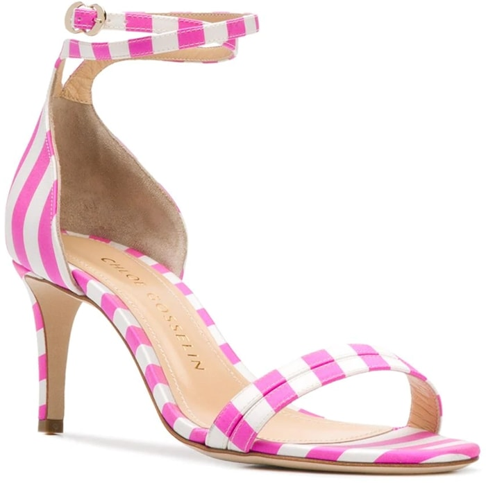 Striped Mid-High Narcissus Stiletto Heels