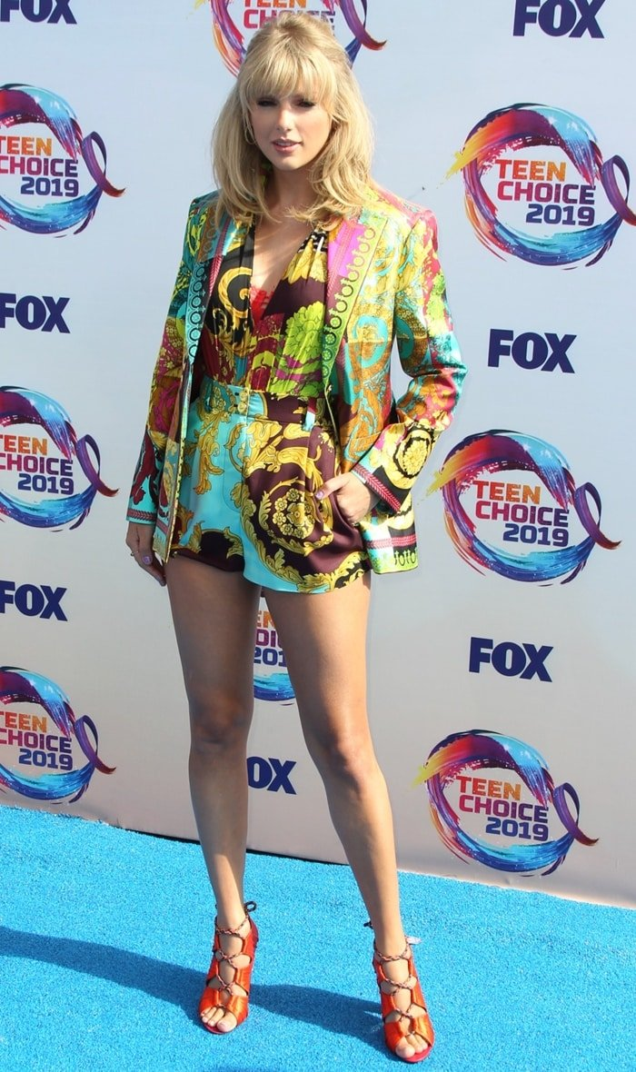 Buy Here Pay Here Orlando >> Taylor Swift's Montage-Print Bodysuit & Kiko Shoes at Teen ...