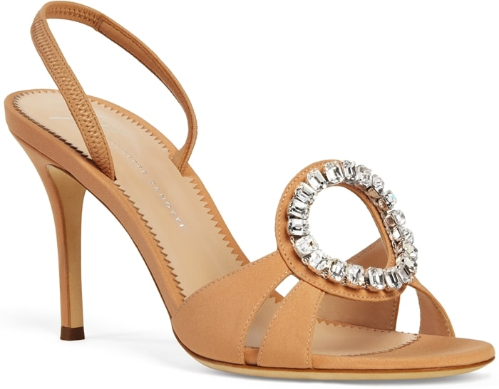 Adel Nude Sandals With Crystal Detailing