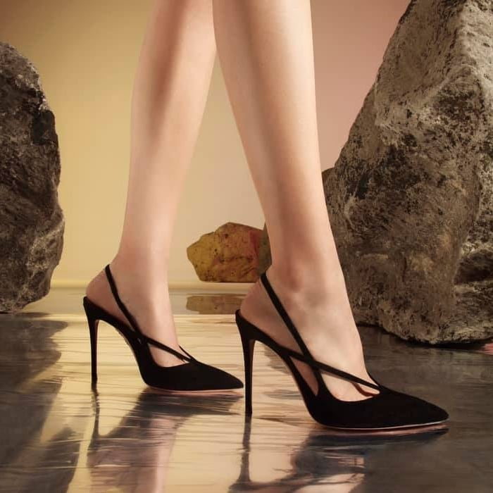 Aquazzura's 'Soul' pumps are carefully crafted in the label's Italian atelier from soft black suede
