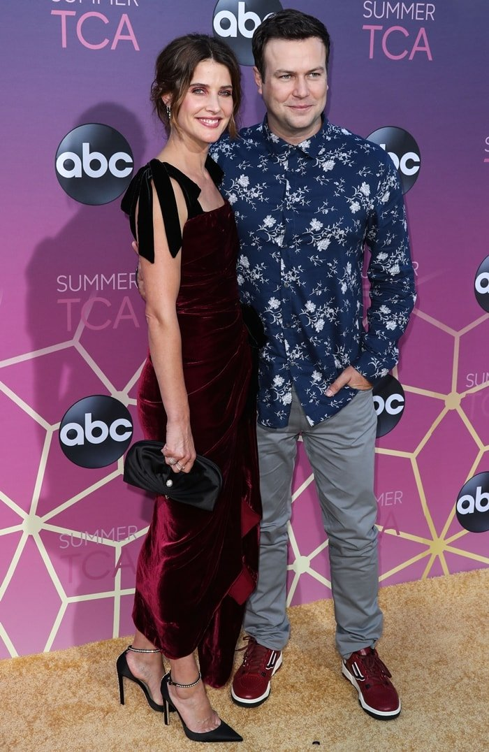 Actress Cobie Smulders and husband/actor Taran Killam arrive at the Disney ABC Television Group TCA Summer Press Tour All-Star Party 2019