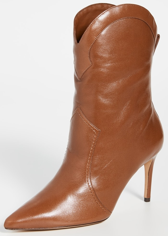 Cognac leather Alexandre Birman Esther 85mm boots