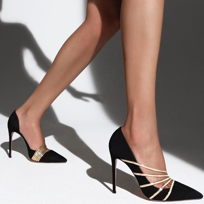 Add glamour to every step you take with the Minou pumps from Aquazzura
