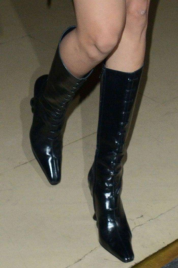 Dorateymur Stainless boots on Bella Hadid
