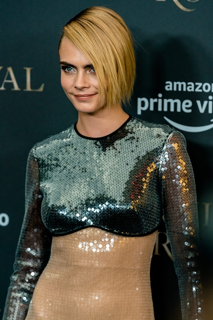 Cara Delevingne's sequined condom dress by David Koma