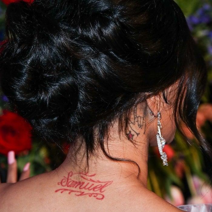 Cardi B's American sign language and Samuel tattoos