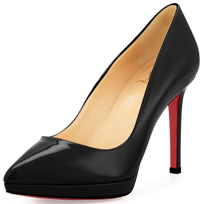 Christian Louboutin Pigalle Plato 100mm pumps black patent