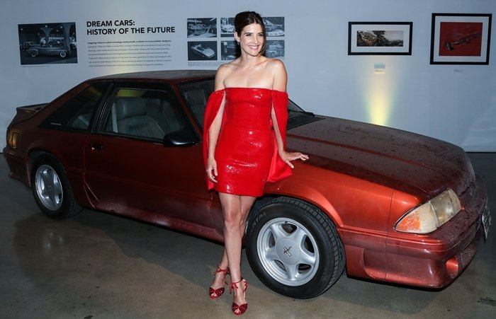 Cobie Smulders was red hot at the season one premiere of her new ABC series Stumptown held at the Petersen Automotive Museum