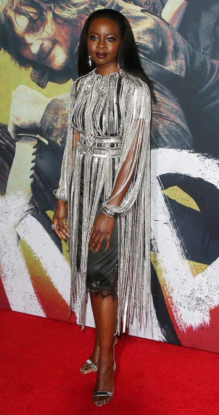 Danai Gurira is best known for her starring roles as Michonne on the AMC horror drama series The Walking Dead and as Okoye in the Marvel Cinematic Universe superhero films Black Panther, Avengers: Infinity War, and Avengers: Endgame