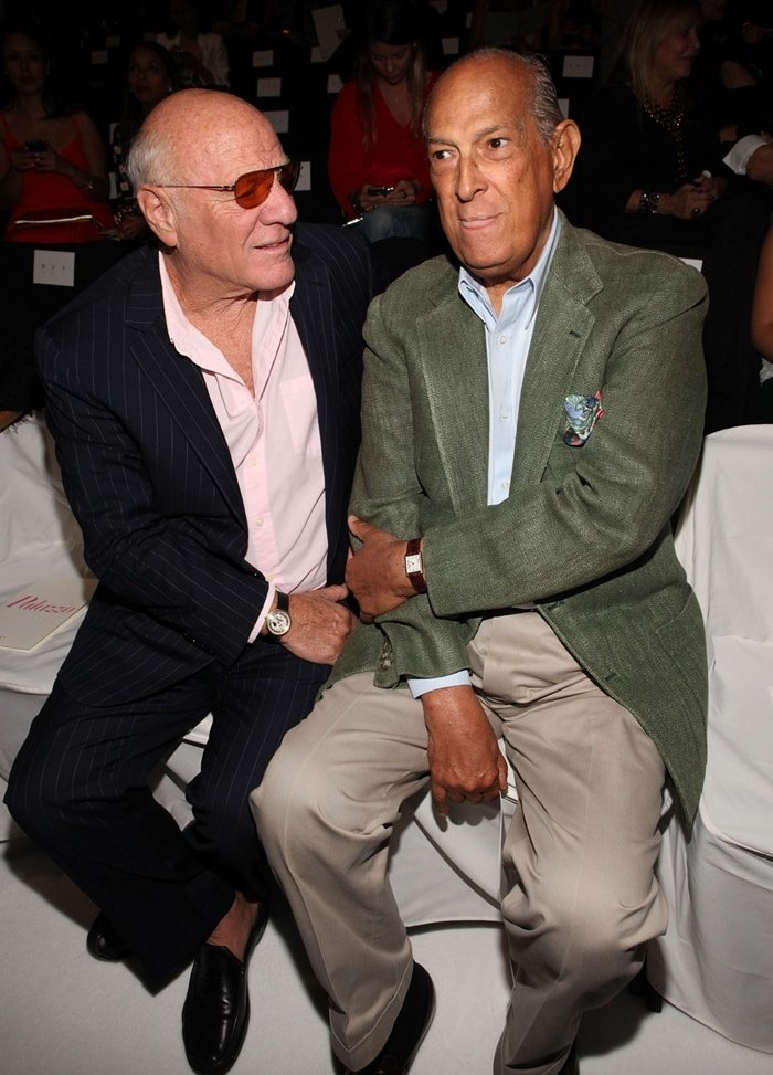 Designer Oscar de la Renta and Barry Diller