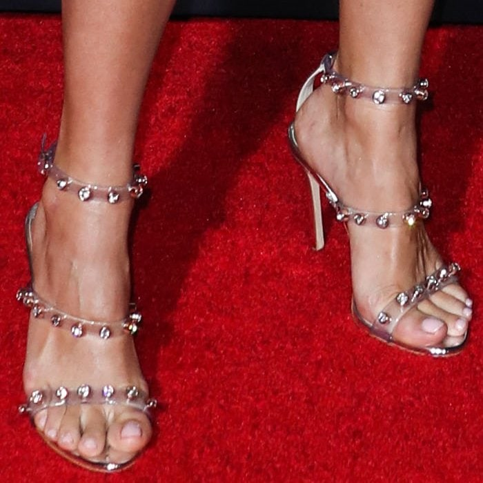 Hilarie Burton's sexy feet in the exact same Sophia Webster 'Rosalind Gem' sandals