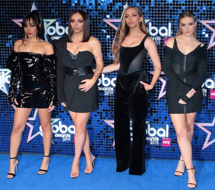 Jade Thirwall, Jesy Nelson, Leigh-Anne Pinnock and Perrie Edwards of Little Mix attend The Global Awards 2019