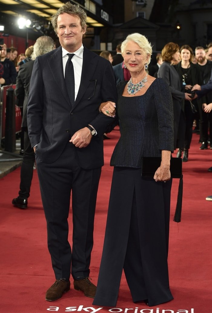 Jason Clarke and Helen Mirren attend the premiere of Catherine the Great