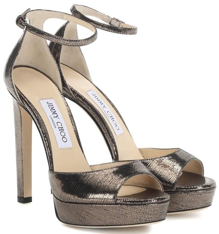 Jimmy Choo Pattie Platform Sandals in Bronze