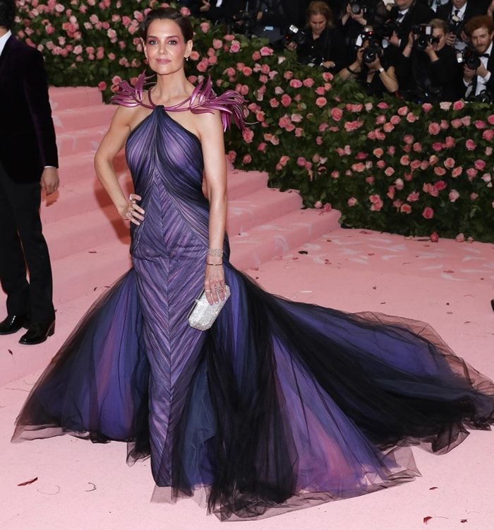 Katie Holmes attends The 2019 Met Gala Celebrating Camp: Notes on Fashion at Metropolitan Museum of Art on May 06, 2019 in New York City