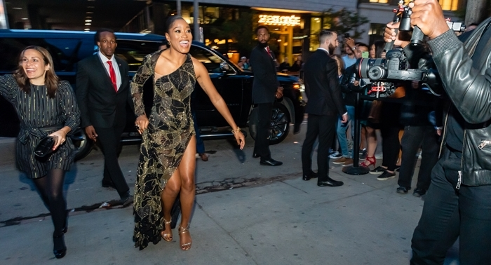 Keke Palmer arrives at the Synchronic after-party hosted by Nordstrom Supper Suite during the 2019 Toronto International Film Festival
