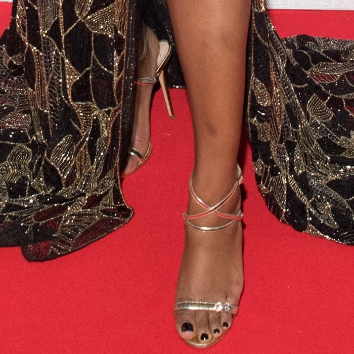 Keke Palmer's sexy pedicured toes on the red carpet