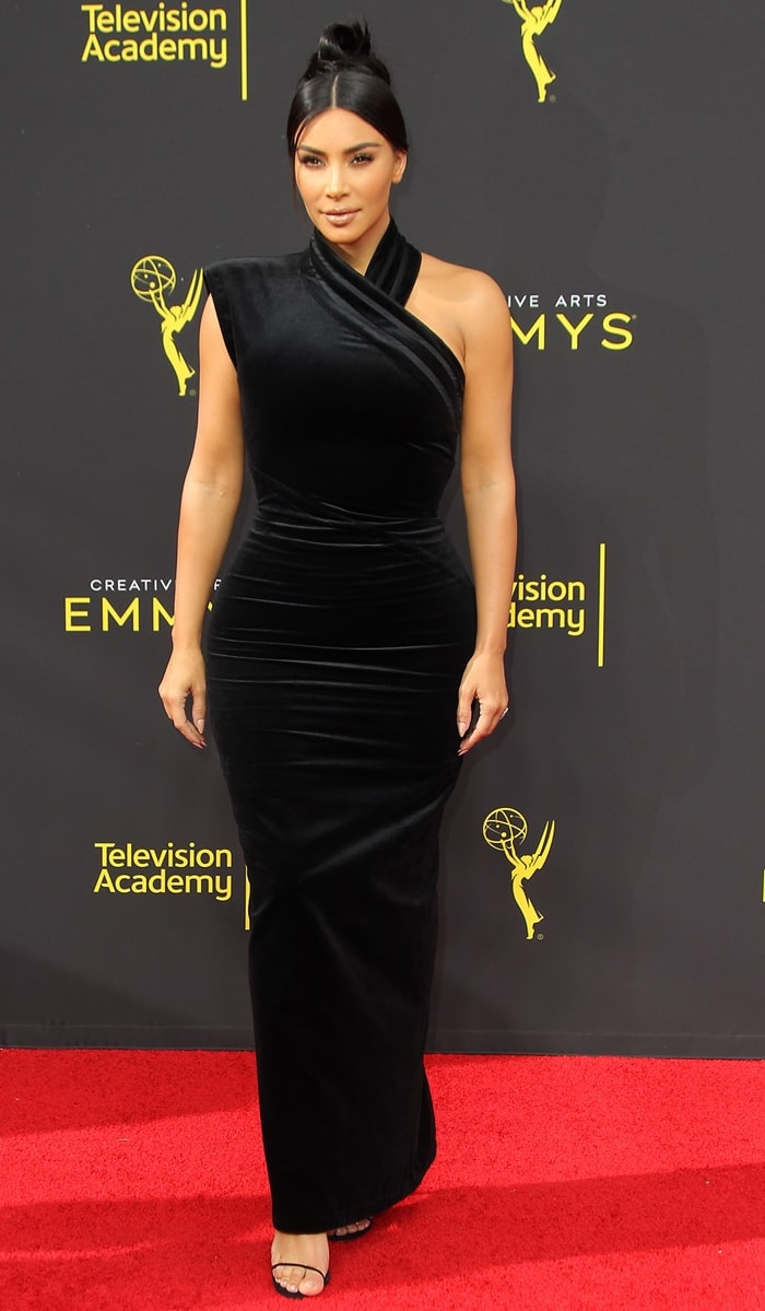 Kim Kardashian attends The 2019 Creative Art Emmy Awards in Los Angeles on Saturday, September 14th, 2019