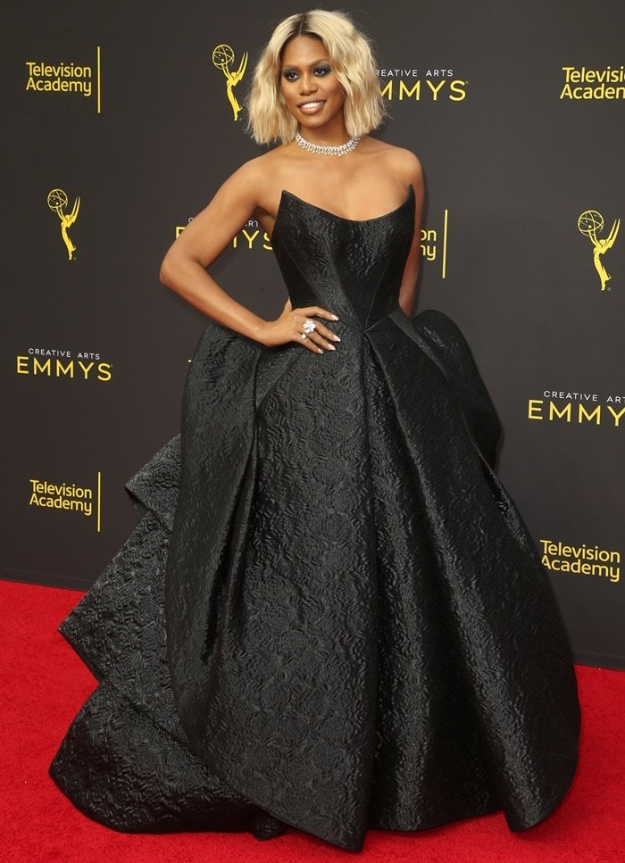 Laverne Cox at the 2019 Creative Arts Emmy Awards in Los Angeles, California, on September 15, 2019
