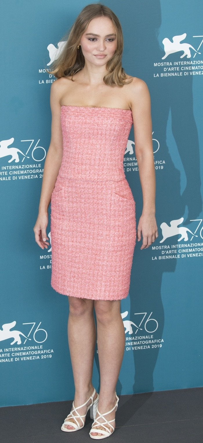 Lily-Rose Depp flaunted her legs in a romantic Chanel mini dress